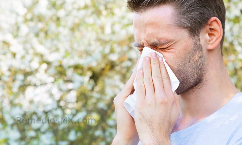 hombre alergia estornudo nariz remedio