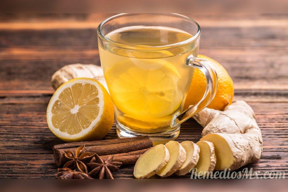 Té de jengibre para la tos, la gripe y el resfriado